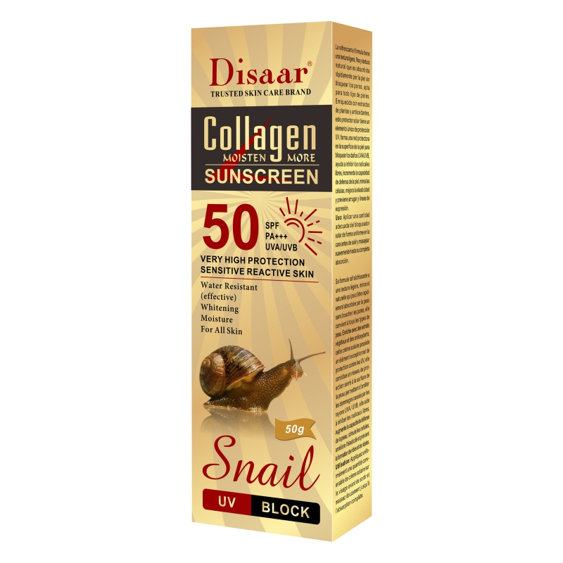 Collagen Snail Essence Sunscreen Hydrating Anti-uva Anti-uvb Whitening Sunscreen For Body Face