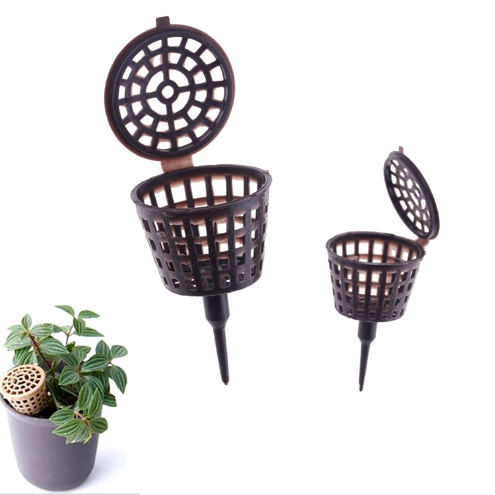 10Pcs Bonsai Plastic Fertilizer Box Baskets Cover Plant Nursery Growth Supplies