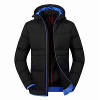 New Winter Coat Mens Thick Padded Brand Man Jackets Outwear Hooded Parka Mens Coat Male Slim Windbreaker Chaqueta Para Hombre