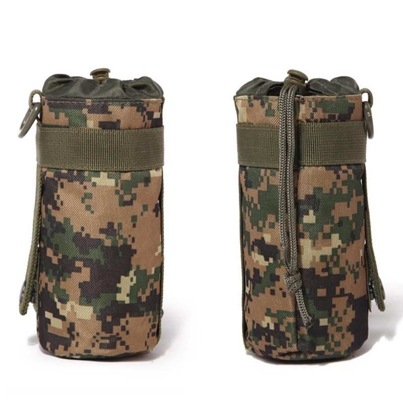 Safe Tactical Water Bottle Pouch Military System Kettle Bag Camping Hiking Travel Survival Kits Holder Outdoors Tools