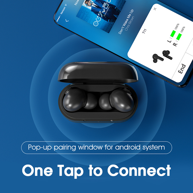 QCY T11 Dynamic-armature drivers earphone HiFi wireless headphone Bluetooth earbuds with 4 microphone HD call customizing APP 6