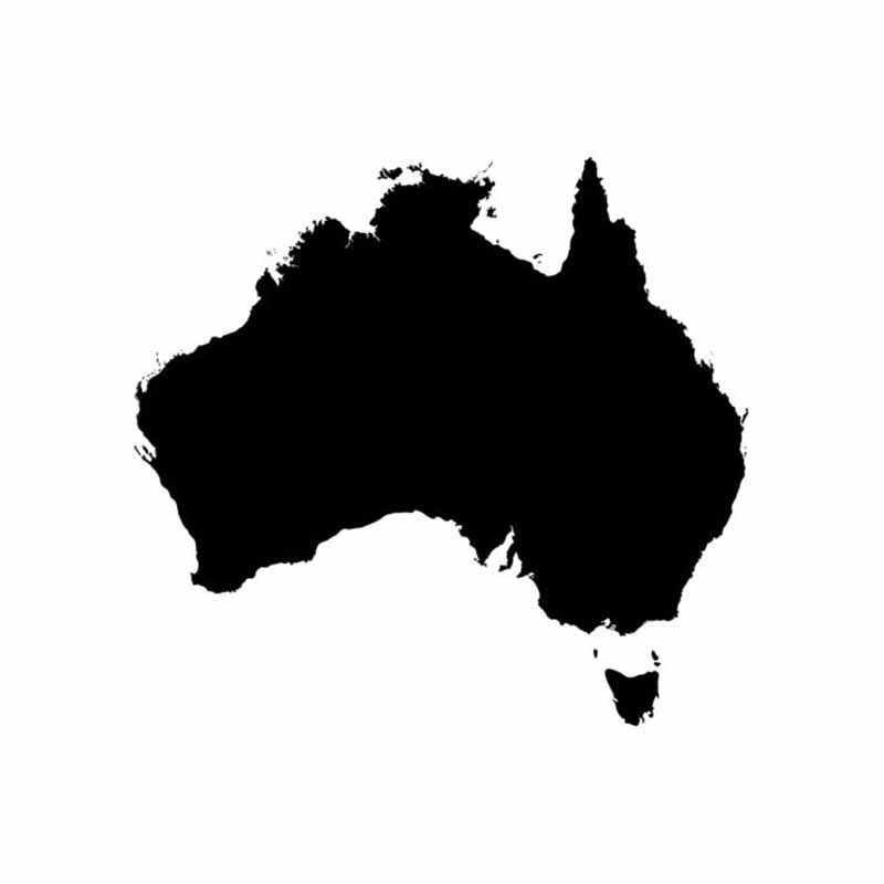 13.9 سنتيمتر X 13 سنتيمتر مضحك أستراليا صورة ظلية خريطة زين اكسسوارات الفينيل سيارة ملصق نافذة الباب الجدار ملصق مائي الخارجي اكسسوارات