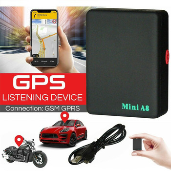 A8 Mini GPS Tracker Children Elder Pets Position Locator Remote Control GSM/GPRS Tracker USB Rechargeable image
