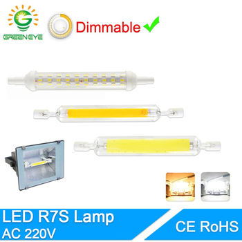 Led Bulb R7S J78 J118 Dimmable led Lamp 78mm 118mm 135mm 189mm corn Replace Halogen 150W 500W Floodlight Spot Light AC 110V 220V image