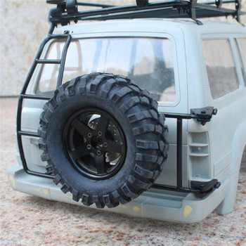 Crawler 1/10 Rc Car Part Spare Tire Metal Holder Fixed Bracket For Toy Cars Land Cruiser LC80 Body Car Shell image