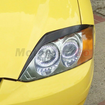 Real Crabon Fiber Head light Eyelid Eyebrow Cover Trim 1pair for  Hyundai Tiburon Coupe 2003-2006 T237 1