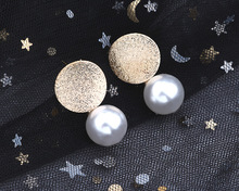 Creative Fashion Ear Jewelry Europe and America Round Pearl Earrings Cross-border New for Women Gifts