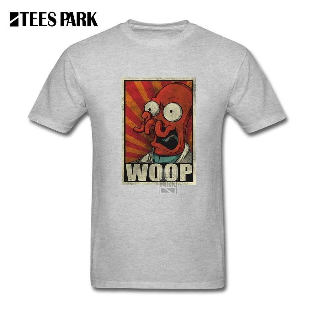 빈티지 스타일 애니메이션 패턴 t 셔츠 남성 woop zoidberg tshirts 크루 칼라 자연면 탑스 반소매 유머 청소년 티