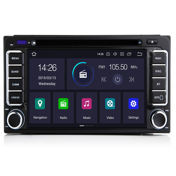 Autoradio 2 din Android 10 Car DVD Multimedia Player For Toyota Land cruise 100 200 prado120 150 RAV4 COROLLA Camry yaris Hilux image