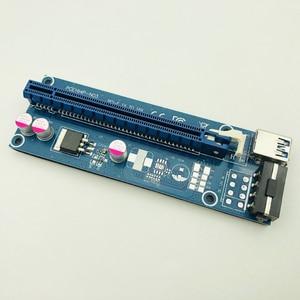 Image 2 - Kable komputerowe złącza PCIE Riser PCI E 16x/x16 Riser do karty graficznej kabel usb 3.0 Molex 4Pin SATA Power do bitcoinów Mining