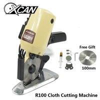 XCAN R 100 Elektrische Schere Runde Messer Stoff Schneiden Maschine 110 V/220 V 100W DIY Nähen Power werkzeuge Tuch Cutter Maschine-in Scheren aus Werkzeug bei