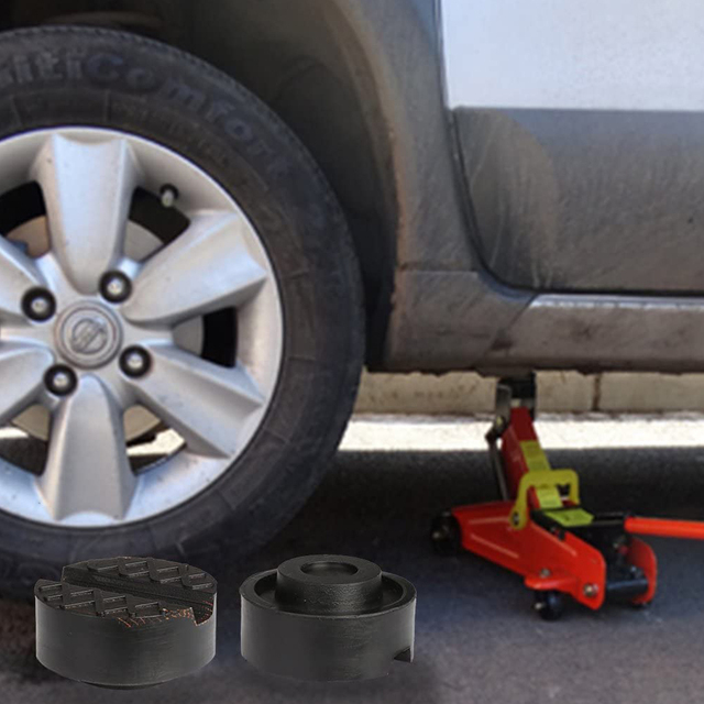 4pcs Car Jack Disk Rubber Pad Lifting Jack Guard Adapter Elasticity DIY Car Slotted Mat Accessory