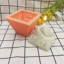 Mini Pyramid Architecture Style Silicone Candle Mold Egyptian Cherish Building Chocolate Candy Bakeware Moulds