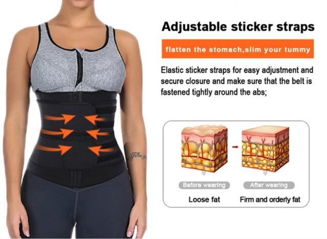 Waist Trainer Cincher Trimmer Sweat Belt Fitness Shaper Men Women Shapewear 3