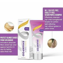 100ml Hair Remove Yellow Blond Purple Toning Hair Shampoo Bleached Toner Dye Remove Hair Yellow ash To Gray Silver Purple B U8N7