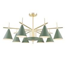 Creative simple Nordic 10 Lamps LED Chandelier Lamp Noridc for Livingroom Bedroom chandeliers light E27 bulb lighting fixture