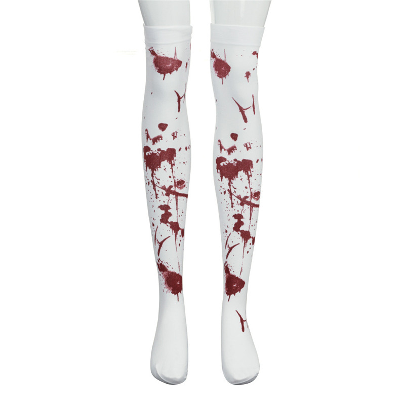 1 Pair Sports Stockings Womens Halloween Wind Thigh High Socks Stockings Over The Knee #1G05 (38)