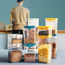 1PC 500ML Stackable Cereal Container Kitchen Sealed Plastic Food Storage Jar Multigrain Storage Tank Dried Fruit Tea Jar недорого