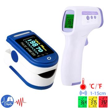 Typ baterii tlenu we krwi SPO2 PR monitorowanie tętna pulsoksymetr bezdotykowy pomiar temperatury ludzkiego ciała termometr do ucha tanie i dobre opinie Alextrasza Dla palców Pulsoksymetria