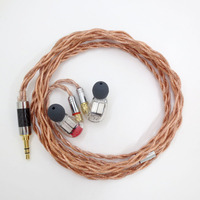 7N Single Crystal Copper Upgrade Audio Cable Gold Plating 15awg Luxurious Custom Headphone Cable for SE535 SE846 UE900 IE80S
