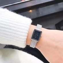 Модные женские часы импортный кварцевый механизм зеркало из