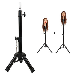Adjustable Mannequin Tripod Stand Canvas Block Training Doll Manikin Head Wig Stand for Cosmetology Hairdressing Wig Display