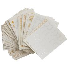 30 Sheet Nail Sticker Optional Decal Sticker Nail Deco Manicure Nail Art Stickers Set Gel UV Nails Sequins 6 3 * 5 4cm cheap X2225