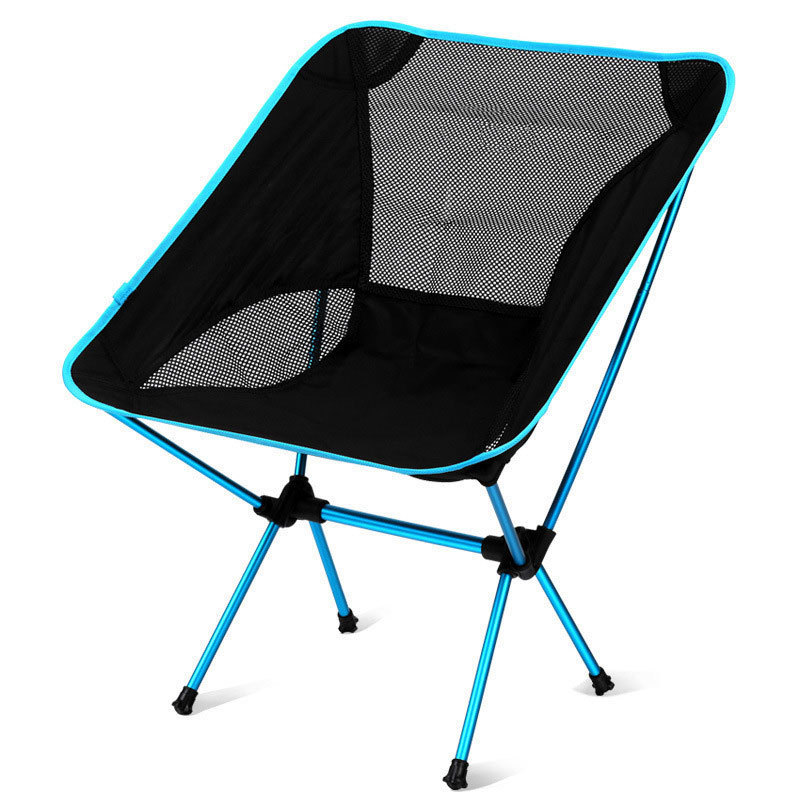 Cross Border Moon Chair Aluminium Alloy Ultra-Light Camping Fishing Chair Outdoor Barbecue Portable Folding Armchair Sand