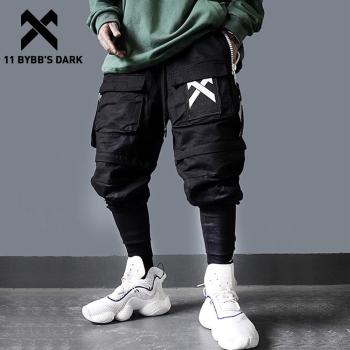 11 BYBB'S DARK Detachable Multi-Pocket Cargo Pants Men Harajuku Hip Hop Streetwear Joggers Man Elastic Waist Sweatpants Techwear 1