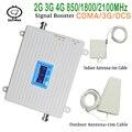 Полный Смарт 2g 3g 4g мобильный ретранслятор сигнала 850 1800 2100mhz сотовый телефон усилитель с ЖК-дисплеем