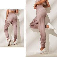 3 Color 2019 New 100-fold Yoga Pants Women Soft Loose Jogger Harem Gym Fitness Sports Elastic band High Waist
