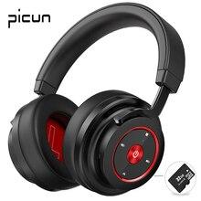 Picun P20 Bluetooth אוזניות 5.0 מעל אוזן קווית אלחוטי אוזניות מתקפל צג DJ סטריאו אוזניות עם מיקרופון תמיכה TF כרטיס