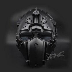 Новый тактический страйкбол полное лицо Пейнтбол Маска Военная армия Регулируемая Защитная CS игра маска шлем