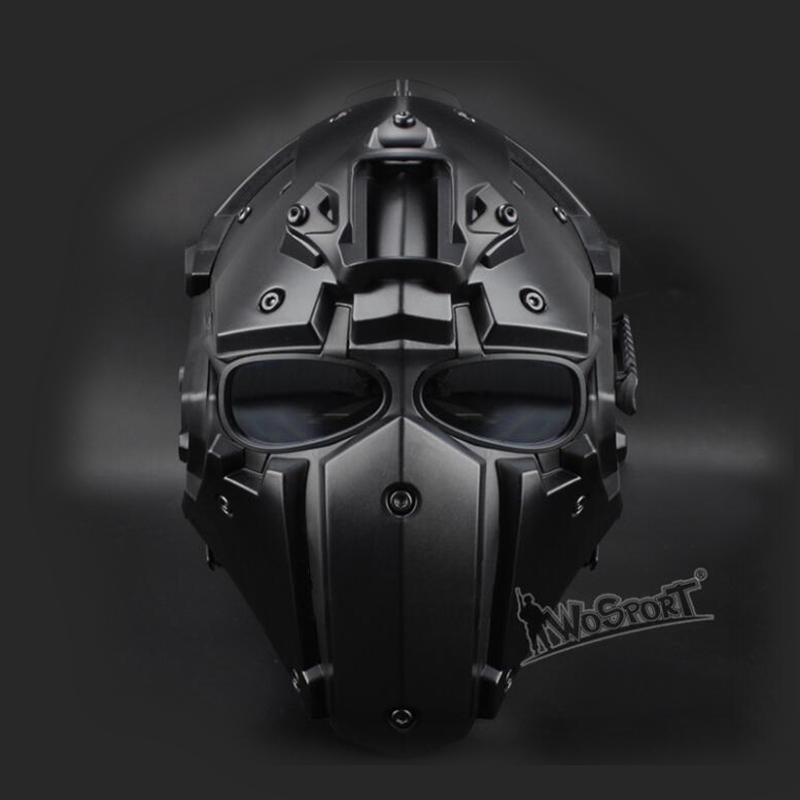New Tactical Airsoft Full Face Paintball Mask Military Army Adjustable Protective CS Game Mask Helmet