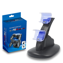USB Dual Gamepad Charger dock Controller Game Controller Power Supply Charging Station Stand For PS4 PS4