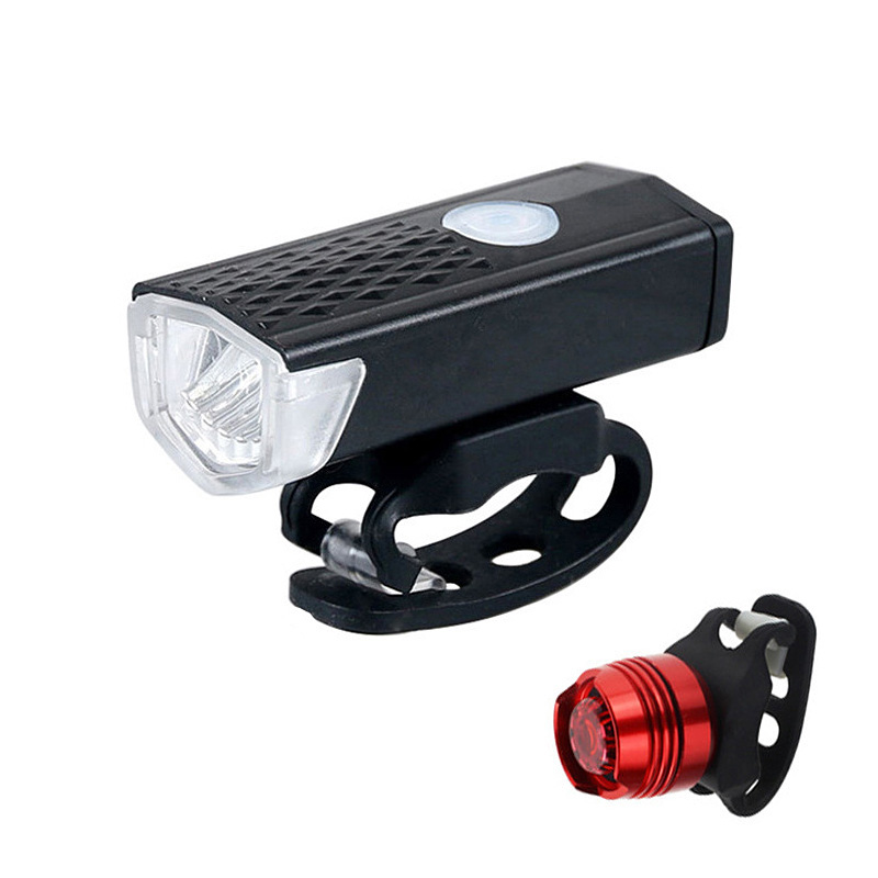 Bike Light USB Rechargeable 300 Lumen 3 Mode Bicycle Front Light 6000K Waterproof Cycling Headlight Flashlight