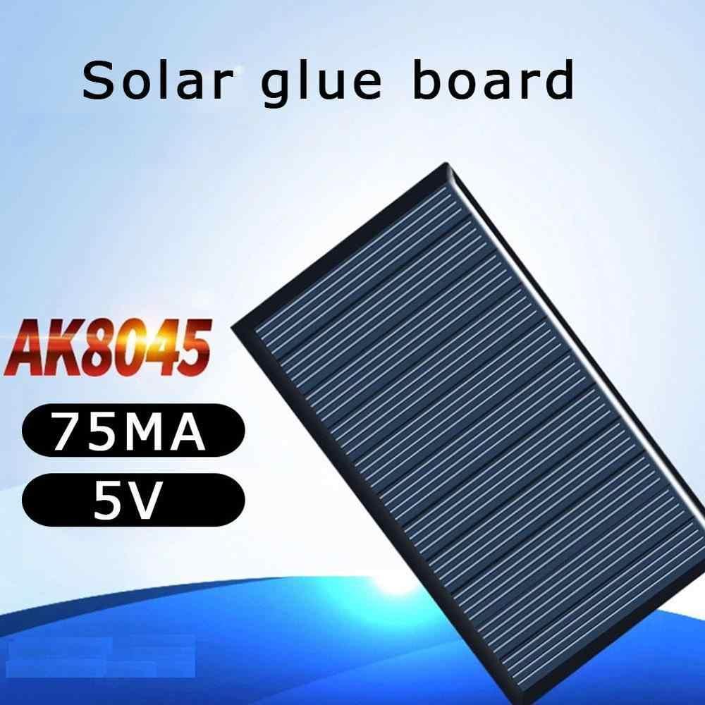 80x45mm 5V 75mA Panel słoneczny upuść klej deska DIY panele słoneczne polikrystaliczna płyta krzemowa