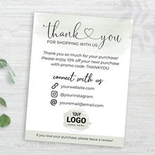 Business Thank You Card,Thank You Note For Customer, Custom Text Social Medial Card,Personalize Logo Business Name Card(China)