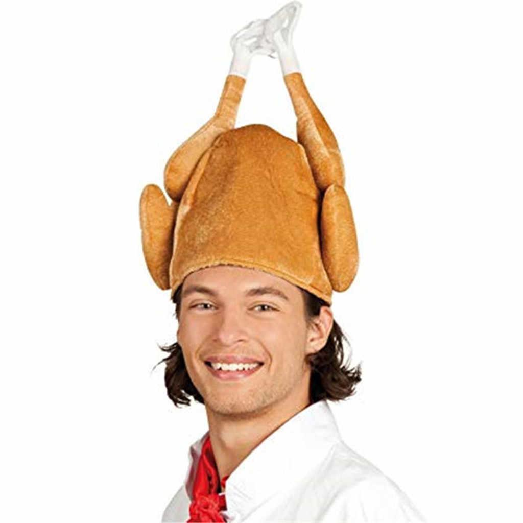 トルコ帽子カーニバル鶏の足感謝祭大人手羽先キャップカチューシャコスチュームローストヘアアクセサリーノベルティフェスティバルギフト