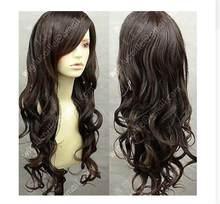 Suyushun11059 + + moda quente de nova marrom escala longo cosplay encaracolado peruca cheia