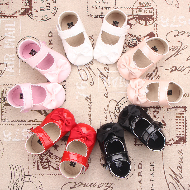 Baby Shoes Autumn New Magic Stickers Bright Leather Princess Shoes Baby Shoes Toddler Shoes 0-1 Years Old  WJH109