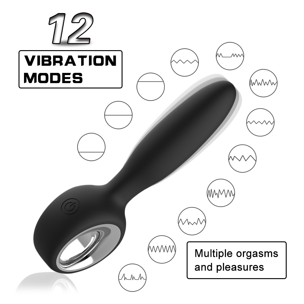 Butt Plug Silicone <font><b>Anal</b></font> Plug Vibrating Prostate Massager Rechargeable <font><b>Anal</b></font> <font><b>Vibrator</b></font> <font><b>Adult</b></font> <font><b>Sex</b></font> <font><b>Toys</b></font> <font><b>for</b></font> <font><b>Men</b></font> image