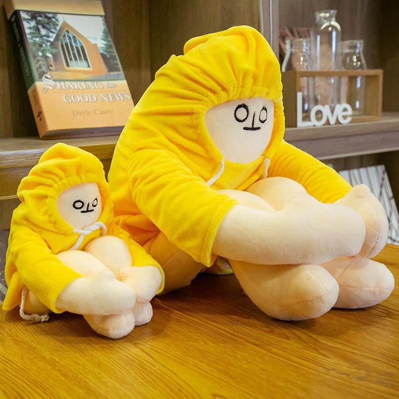 65cm Dolls Plush Toys Banana Man Dolls Soft Stuffed Korea Popular Appease Dolls Kawaii Birthday Toys For Children Baby