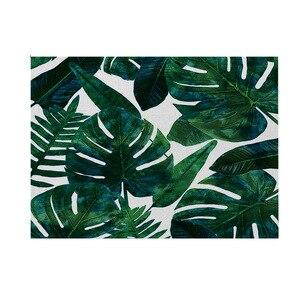 Столовые приборы с тропическими растениями, Нескользящие шикарные столовые приборы, коврик для обеденного стола, термоизоляционные столов...