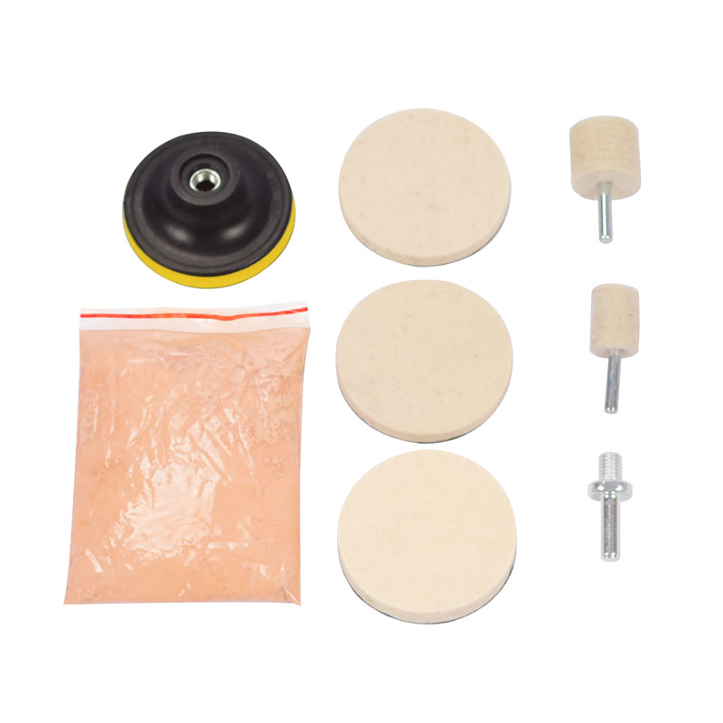 "3/"" Pad Felt 120g Cerium Oxide Glass Polishing Kit Windscreen Scratch Remover"