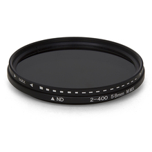 Fader değişken ND filtre ayarlanabilir ND2 To ND400 nötr yoğunluk kamera lensi 11x11x2.5CM EM88
