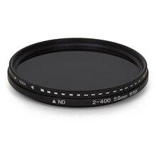 Fader zmienna filtr ND regulowany ND2 do ND400 neutralna gęstość do obiektywu aparatu 11x11x2.5CM EM88