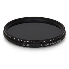 משתנה מדעך ND מסנן מתכוונן ND2 כדי ND400 צפיפות ניטראלי עבור מצלמה עדשת 11x11x2.5CM EM88