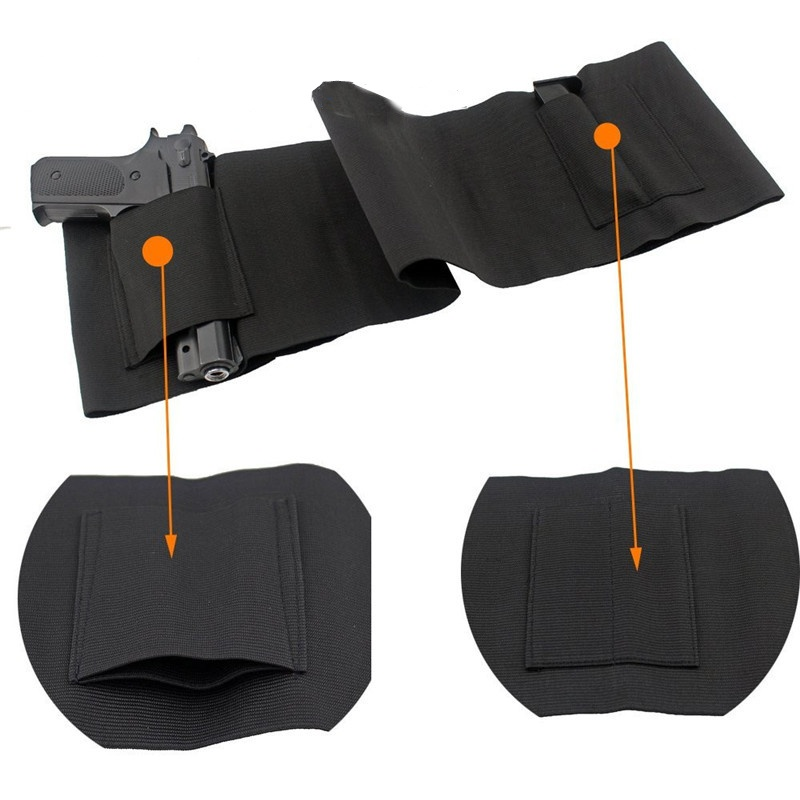 Tactical Belly Band Gun Holster Concealed Carry Waist Belt Girdle Mag Pouches Military Airsoft Revolver Case Bag Pistol Holsters