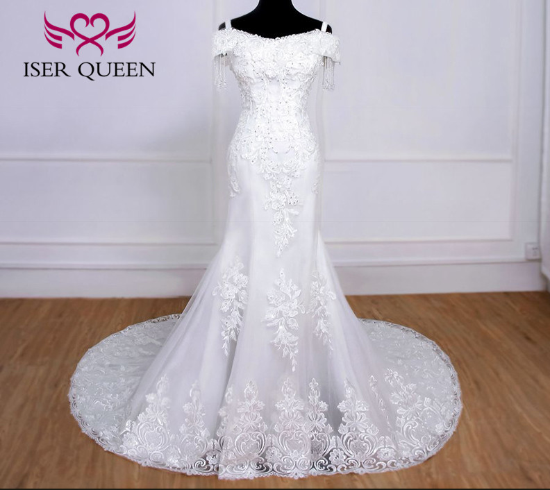 Cap Sleeves Embroidery Appliques Mermaid Wedding Dress 2020 New Quality Beading Lace Bride Dress Wedding Gowns WX0078